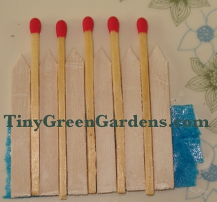 spacing fairy garden fence pickets